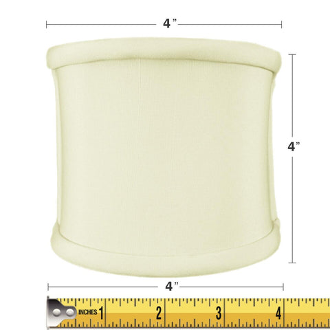 0-001202>4x4x4 Clip-on Sconce Half-Shell Lampshade Eggshell Shantung Fabric
