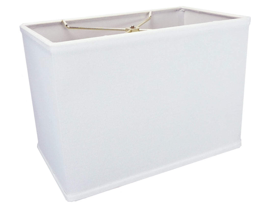 0-002053>Rectangular 1 Light Swag Plug-In Pendant Hanging Lamp (8x14) (8x14) x 10 White