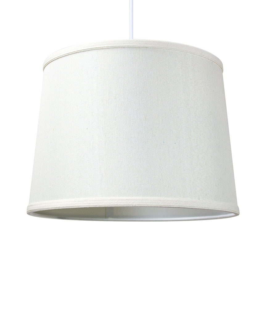 0-000459>1-Light Plug In Swag Pendant Ceiling Light Light Oatmeal Shade
