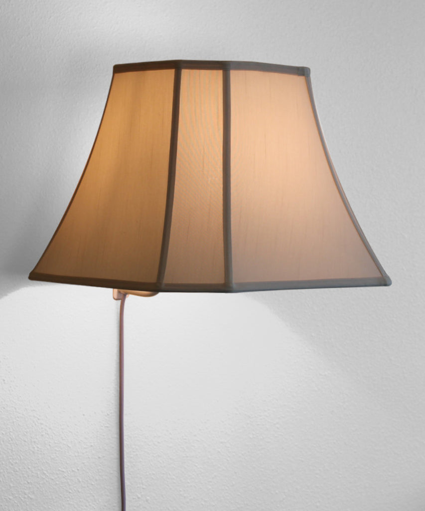 Floating Shade Plug-In Wall Light Eggshell 9x16x12