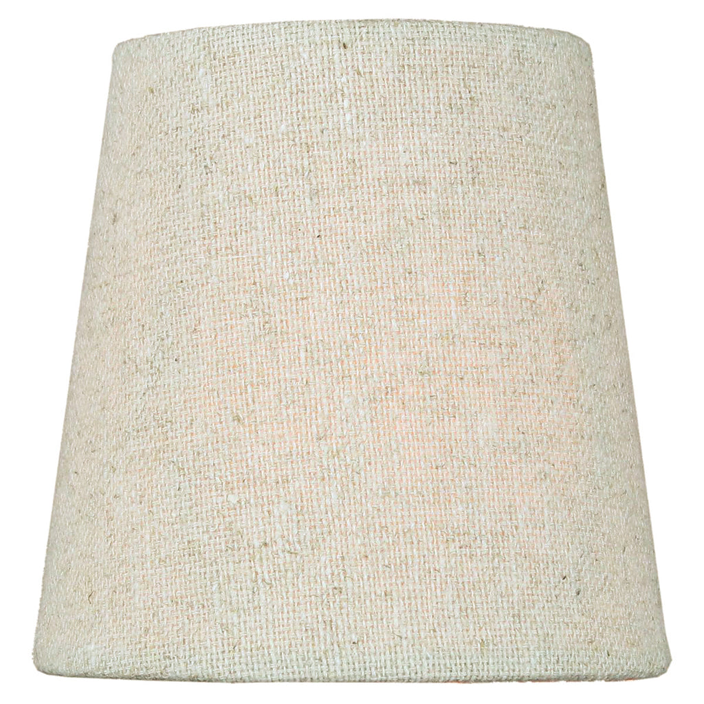 0-002674>3x4x4 Chandelier Sand Linen Clip-On Lampshade