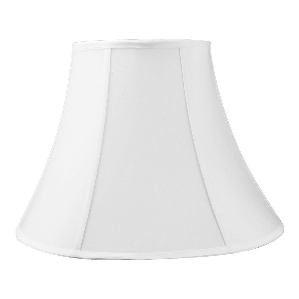 0-000325>9x18x13.5 White Bell Shantung Lampshade