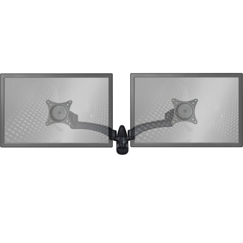 0-001420>Wall Mount Monitor Arm: Standard Dual Screen Black