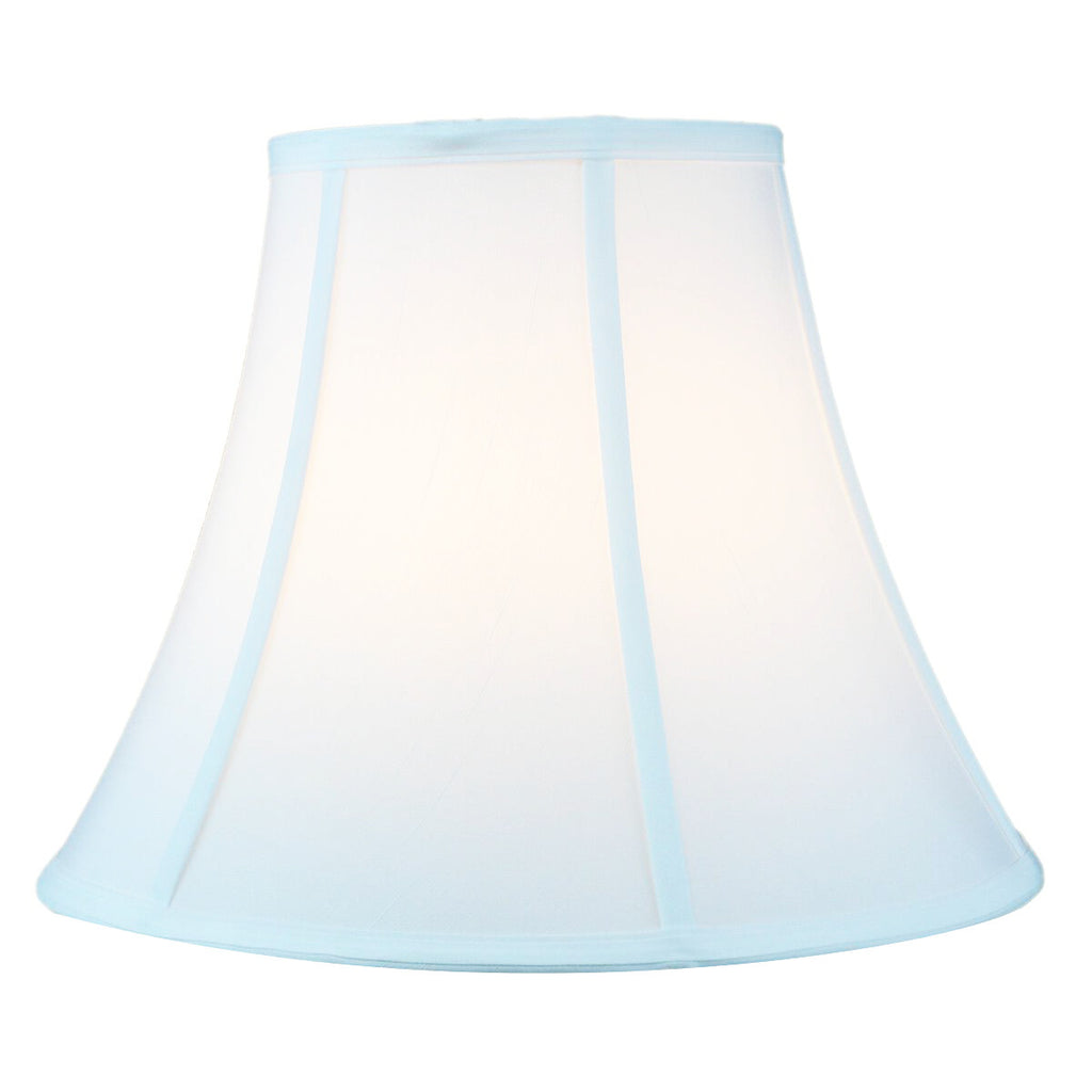 0-000446>7x14x11 White Bell Shantung Lampshade