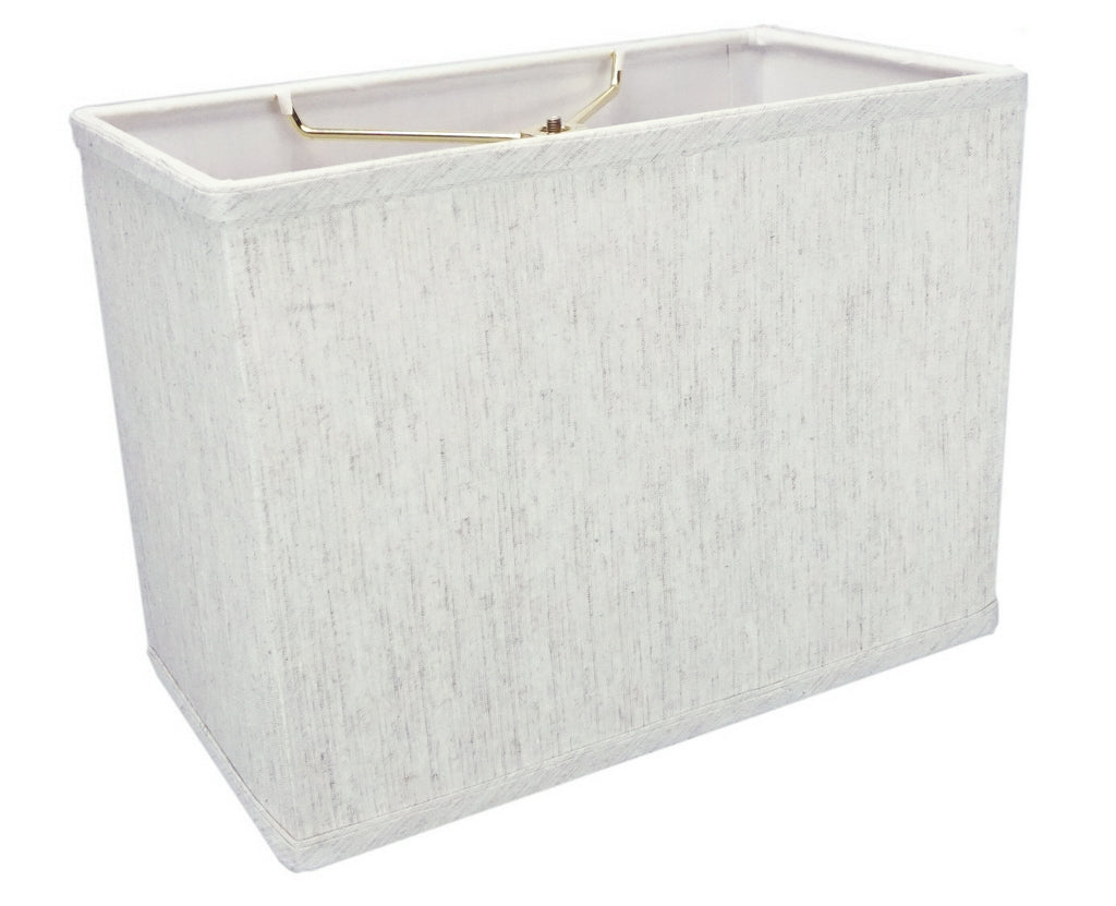 "Rectangular Drum Lampshade (6.5x12) (6.5x12) x 9"" Textured Oatmeal"