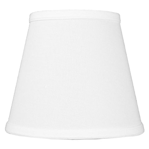 0-001338>5x8x7 Empire Hardback White Linen Edison Clip-On Lampshade