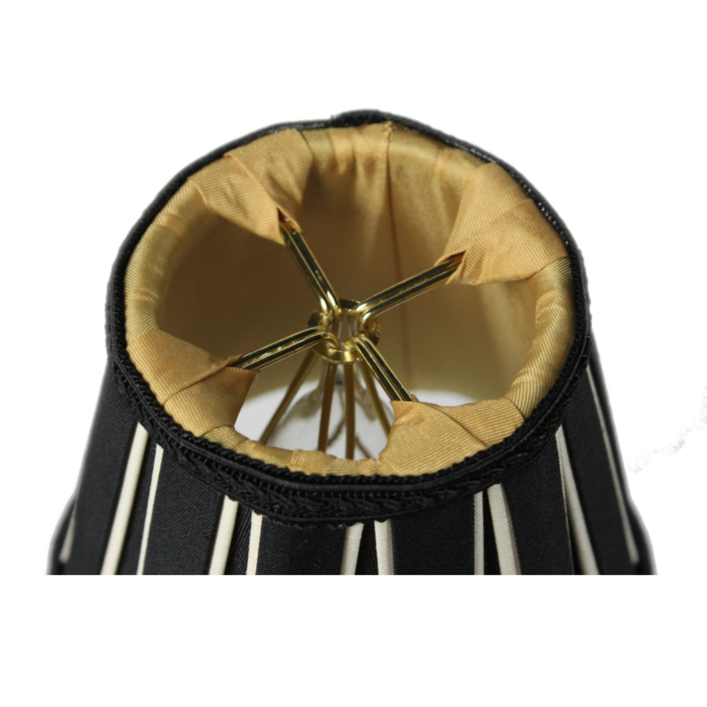 0-001907>3x5x5 Black Eggshell Chandelier Clip-On Lampshade