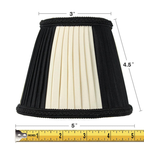 0-001706>3x5x5 Black Egg Chandelier Clip-On Lampshade