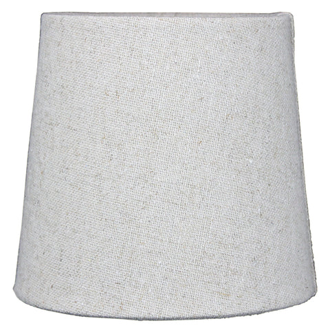 0-007979>5x6x5 Sand Linen Drum Chandelier Clip-On Lampshade