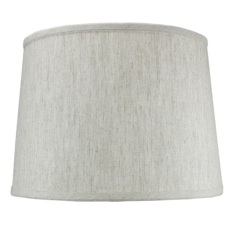 0-002020>Textured Oatmeal Drum Shade 12x14x10