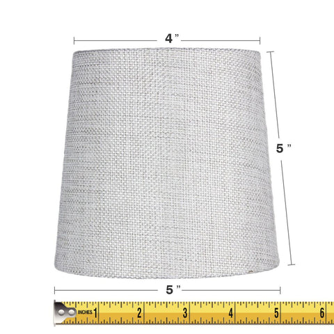 0-001399>5x6x5 Khaki Burlap Drum Chandelier Clip-On Lampshade