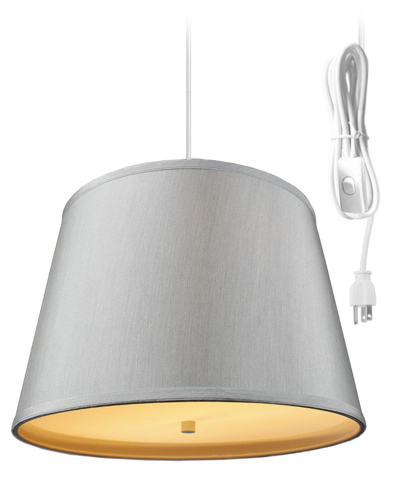 2 Light Swag Plug-In Pendant with Diffuser 13x16x11
