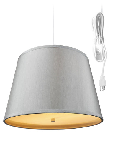 0-002072>2 Light Swag Plug-In Pendant with Diffuser 13x16x11