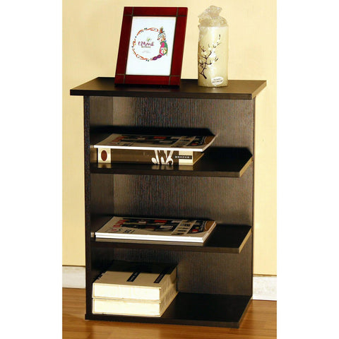 0-000141>Magazine Rack Chairside End Table Red Cocoa