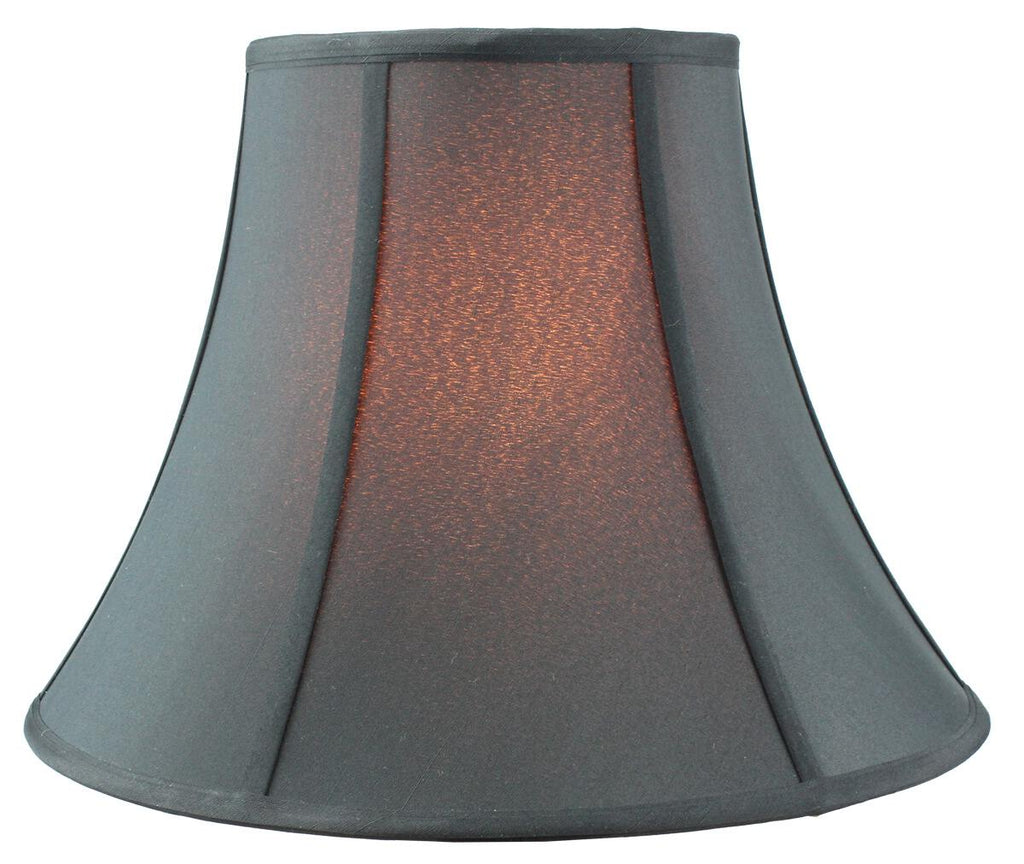 0-000597>8x16x12 Bold Black with Gold Lining Bell Lamp shade