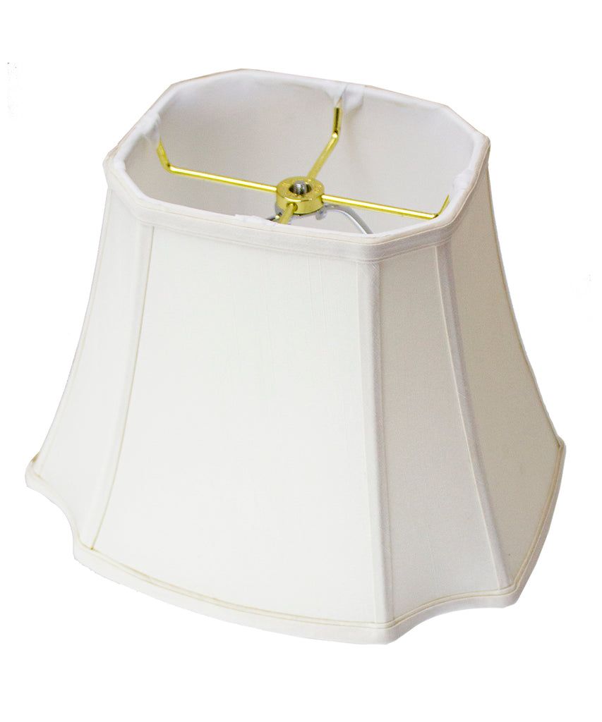 0-000373>9x16x12 Square Cut Corner Lamp Shade Eggshell