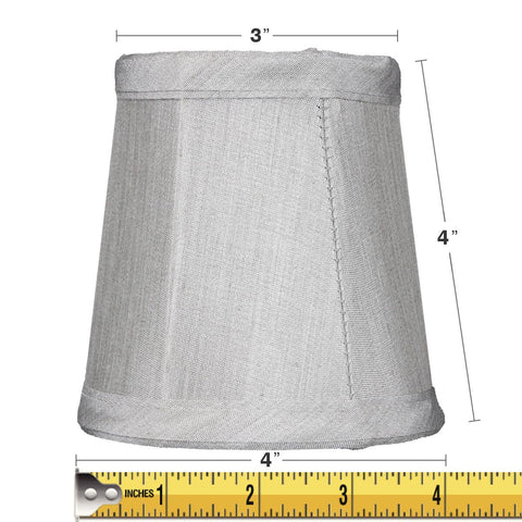 3x4x4 Gray Stretch Clip-On Candlelabra Clip-On Lamp shade