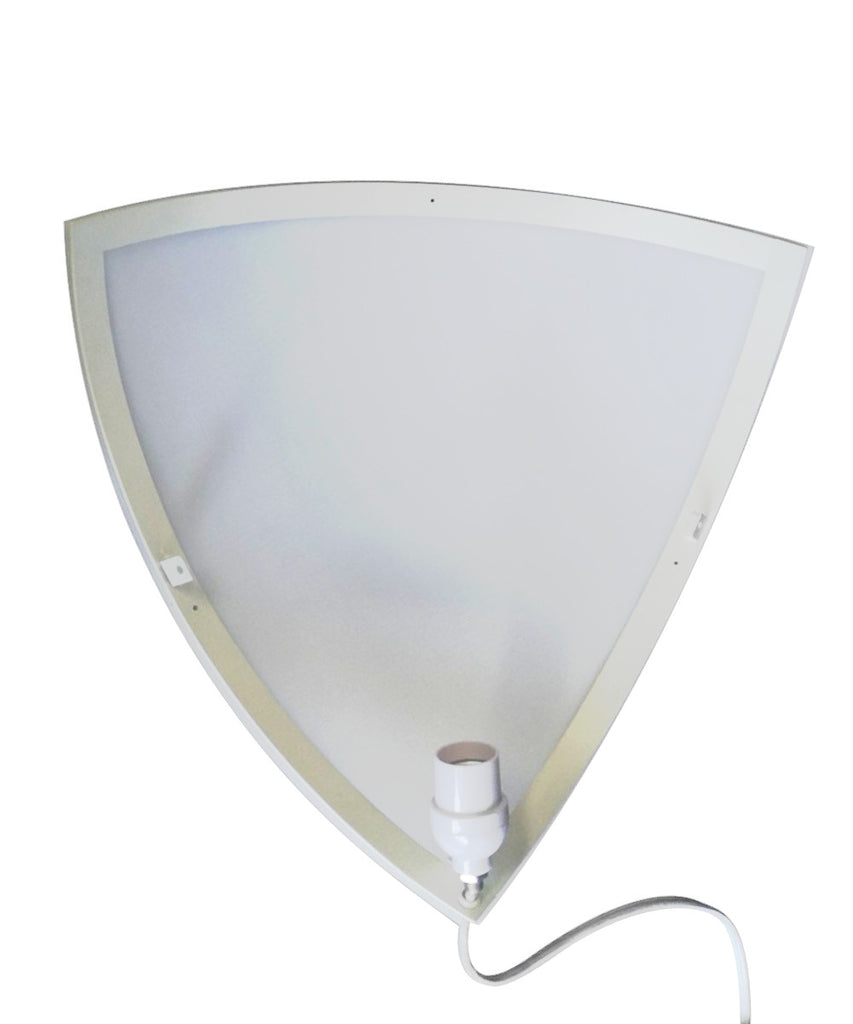 0-000130>Beacon Triangle Corner Light, Plug-In 17' Cord, White by Home Concept