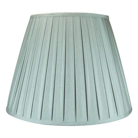 0-001527>11x18x13.5 Empire Box Pleat Lamp Shade Gray