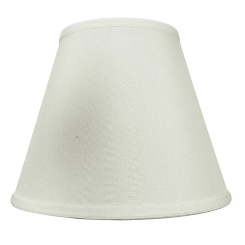 0-000644>5x10x8 Light Oatmeal Empire Hardback Lampshade