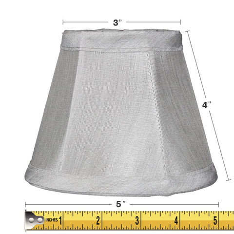 3x5x4 Gray Stretch Clip-On Candlelabra Clip-On Lamp shade