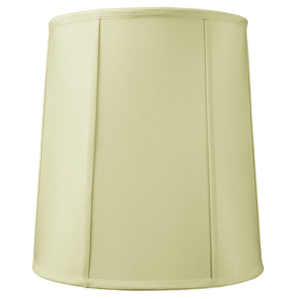 0-000025>12x14x15 Drum Lampshade with Piping Eggshell