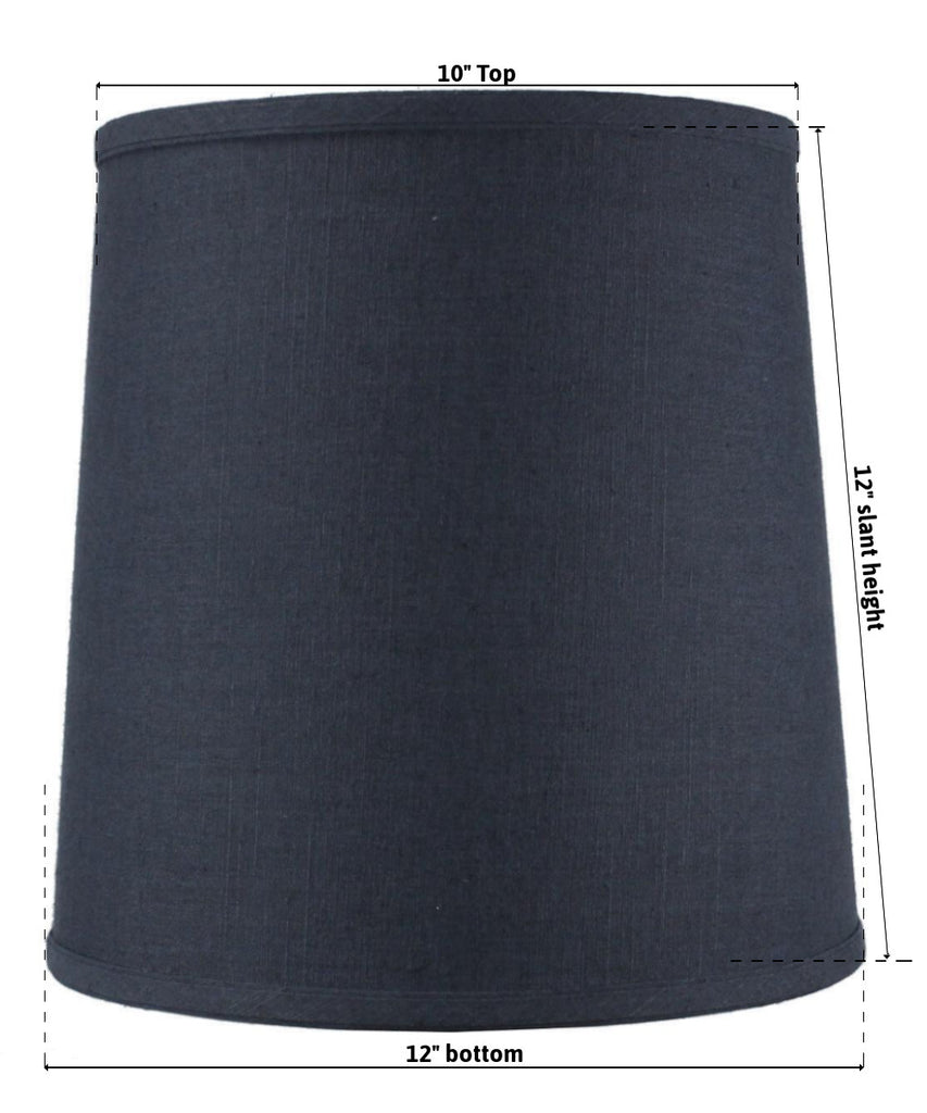 0-004925>10x12x12 SLIP UNO FITTER Textured Slate Blue Drum Linen Shade