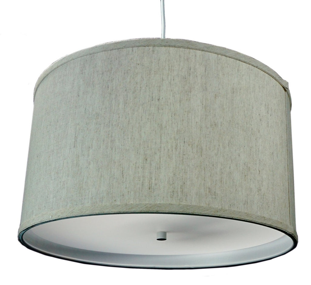 0-002068>Textured Oatmeal 2 Light Swag Plug-In Pendant with Diffuser