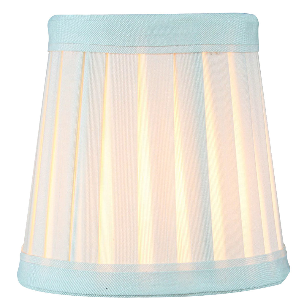0-000462>3x4x4 Crisp Linen Pleated Clip-on Candelabra Lampshade