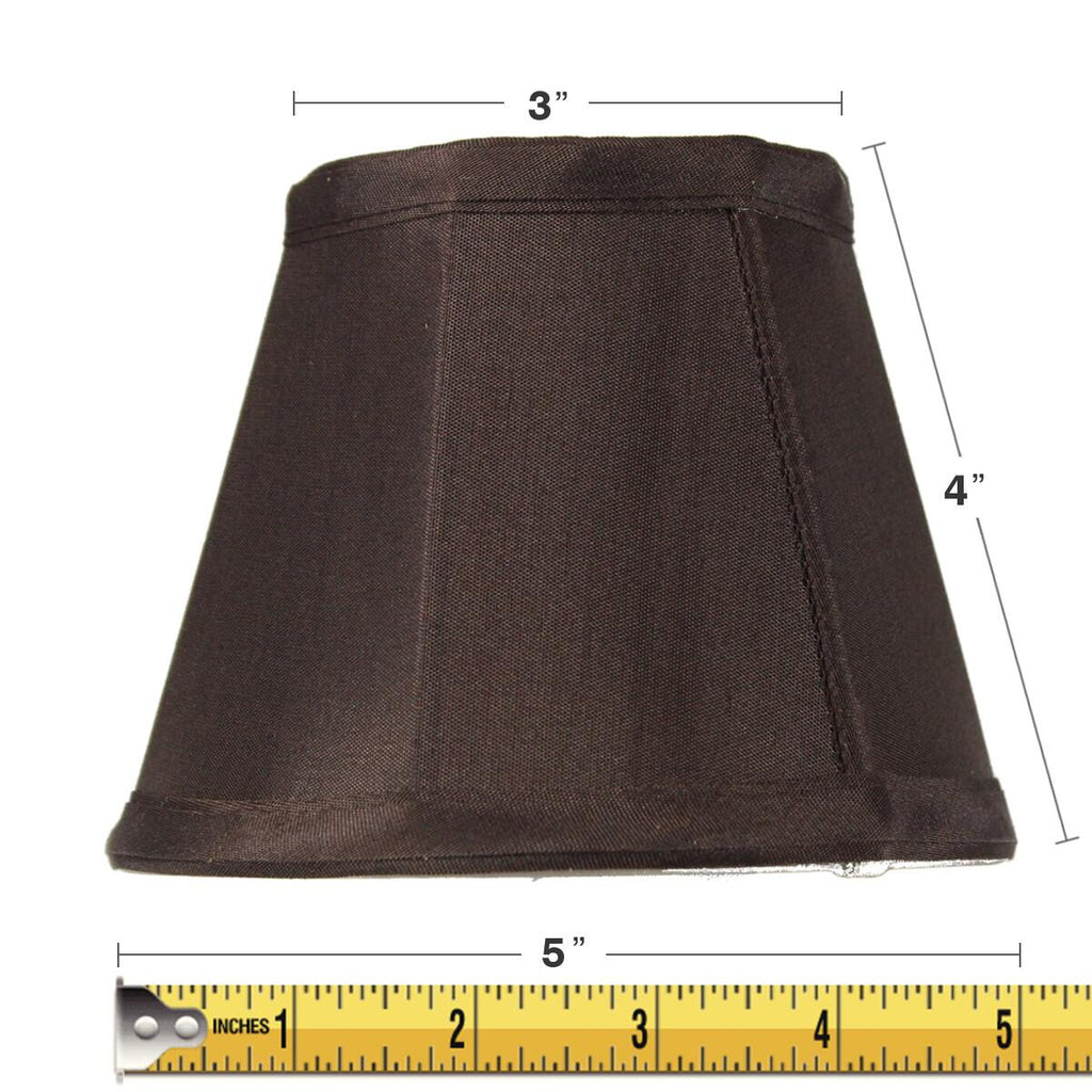 0-004951>3x5x4 Chandelier Chocolate Bavarian Fabric Clip-On Lampshade