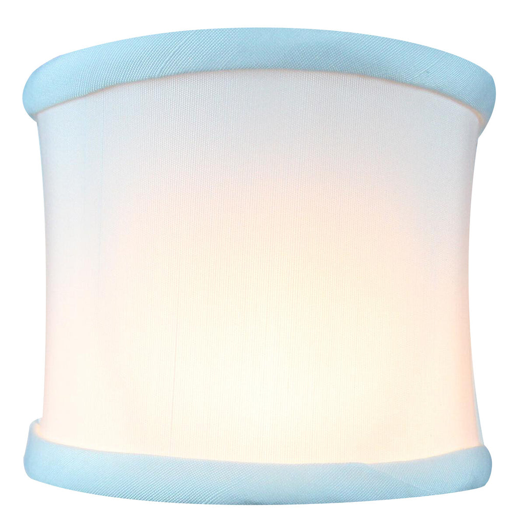 4x4x4.25 Down White Clip-on Sconce Half-Shell Lampshade
