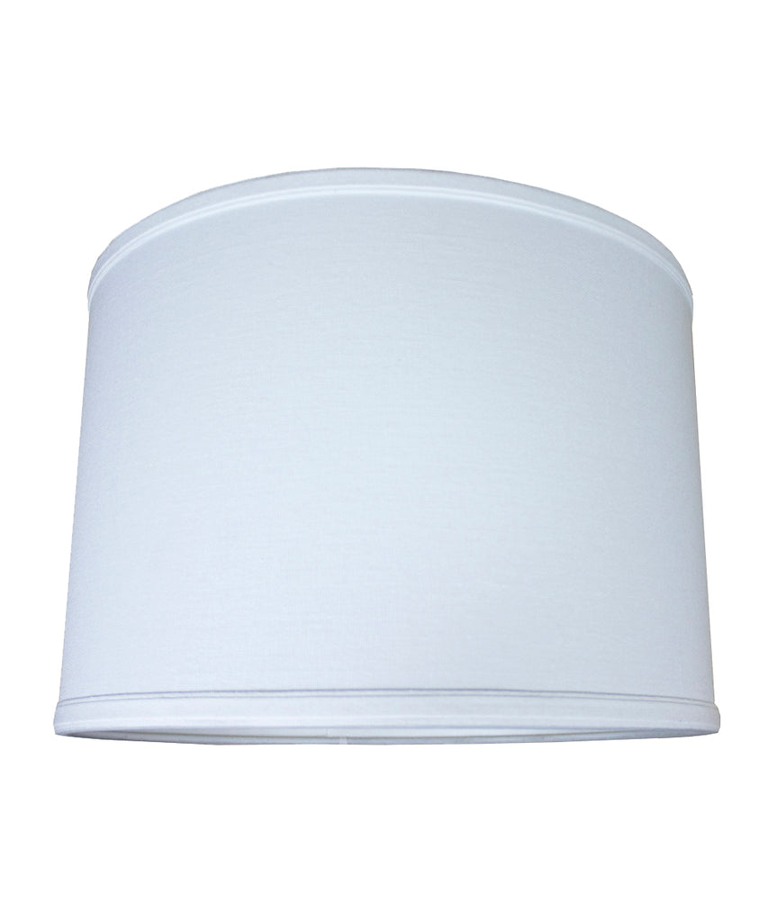 0-002089>14x14x10 Drum Lamp Shade Premium White Linen