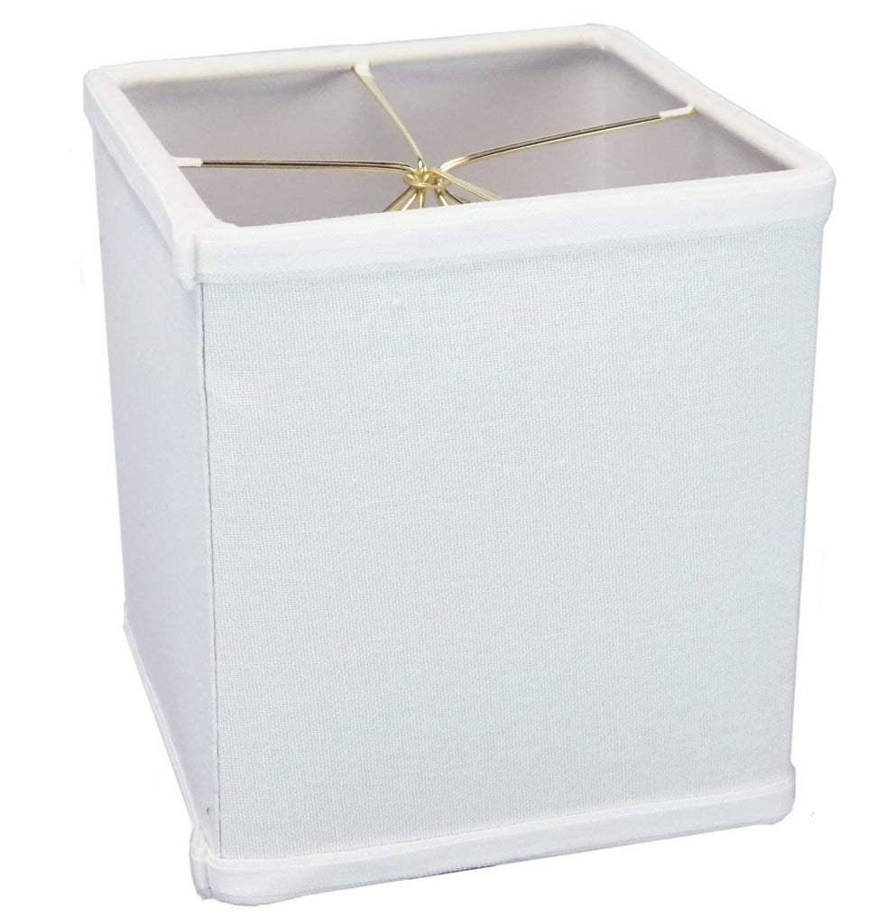 "0-002033>Rectangular Drum Lampshade (6x6) (6x6) x 7"" White"