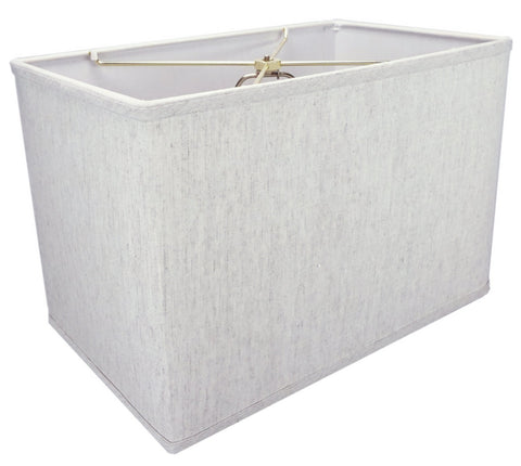 0-002030>Rectangular Drum Lampshade (10x16) (10x16) x 11 Textured Oatmeal