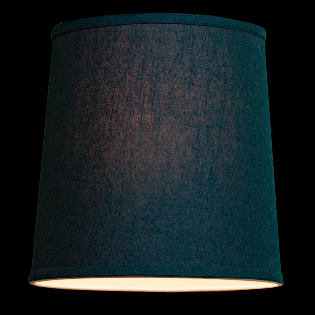 0-002045>Textured Slate Blue Shantung 1 Light Swag Plug-In Pendant Hanging Lamp