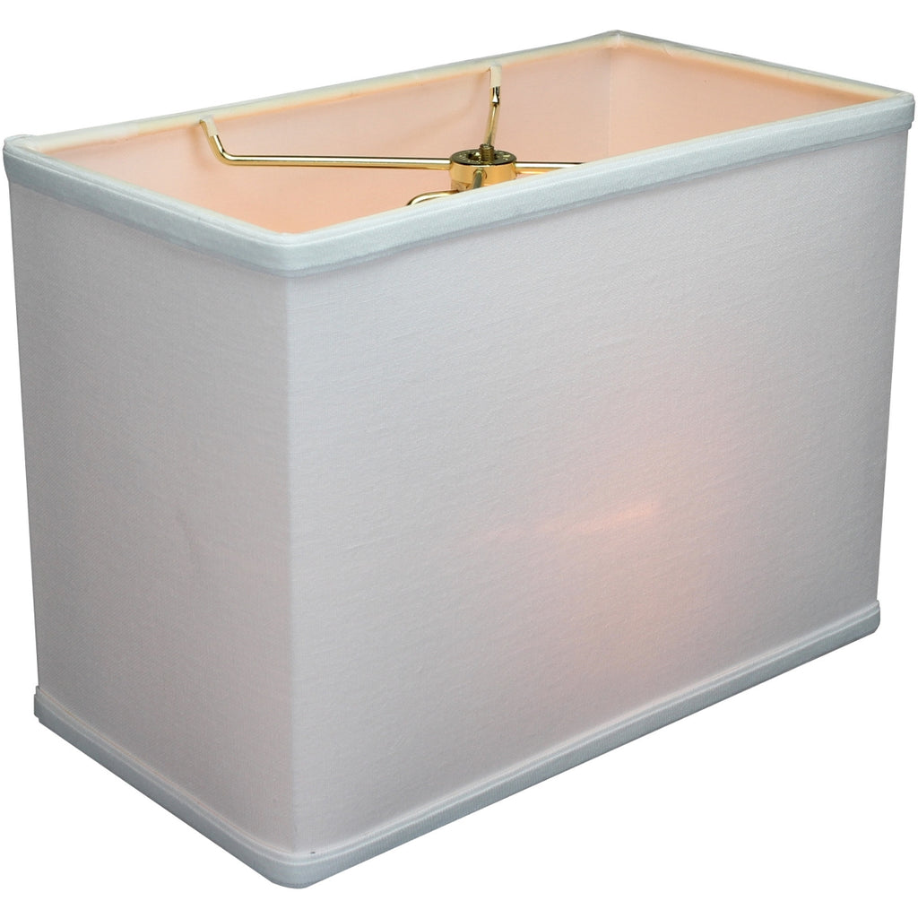 "Rectangular Drum Lampshade (6.5x12) (6.5x12) x 9"" White"