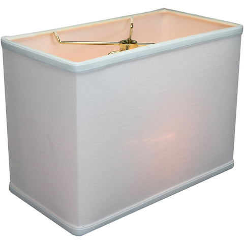 "0-002032>Rectangular Drum Lampshade (6.5x12) (6.5x12) x 9"" White"