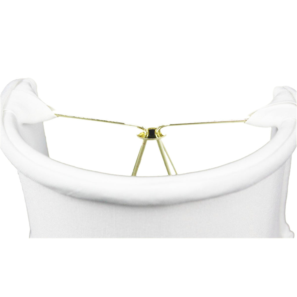 0-001379>4x4x4.25 Down White Clip-on Sconce Half-Shell Lampshade
