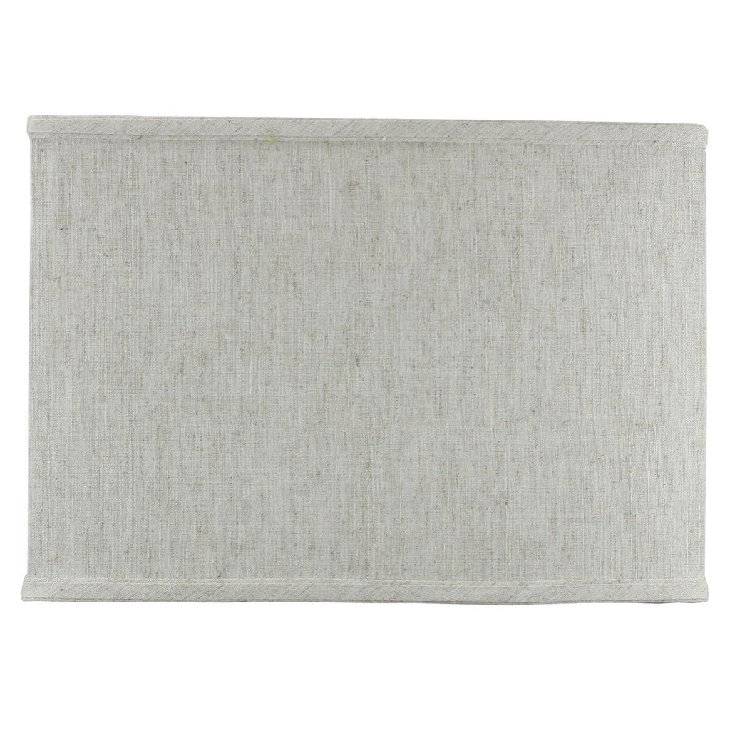0-002031>Rectangular Drum Lampshade (8x14) (8x14) x 10 Textured Oatmeal