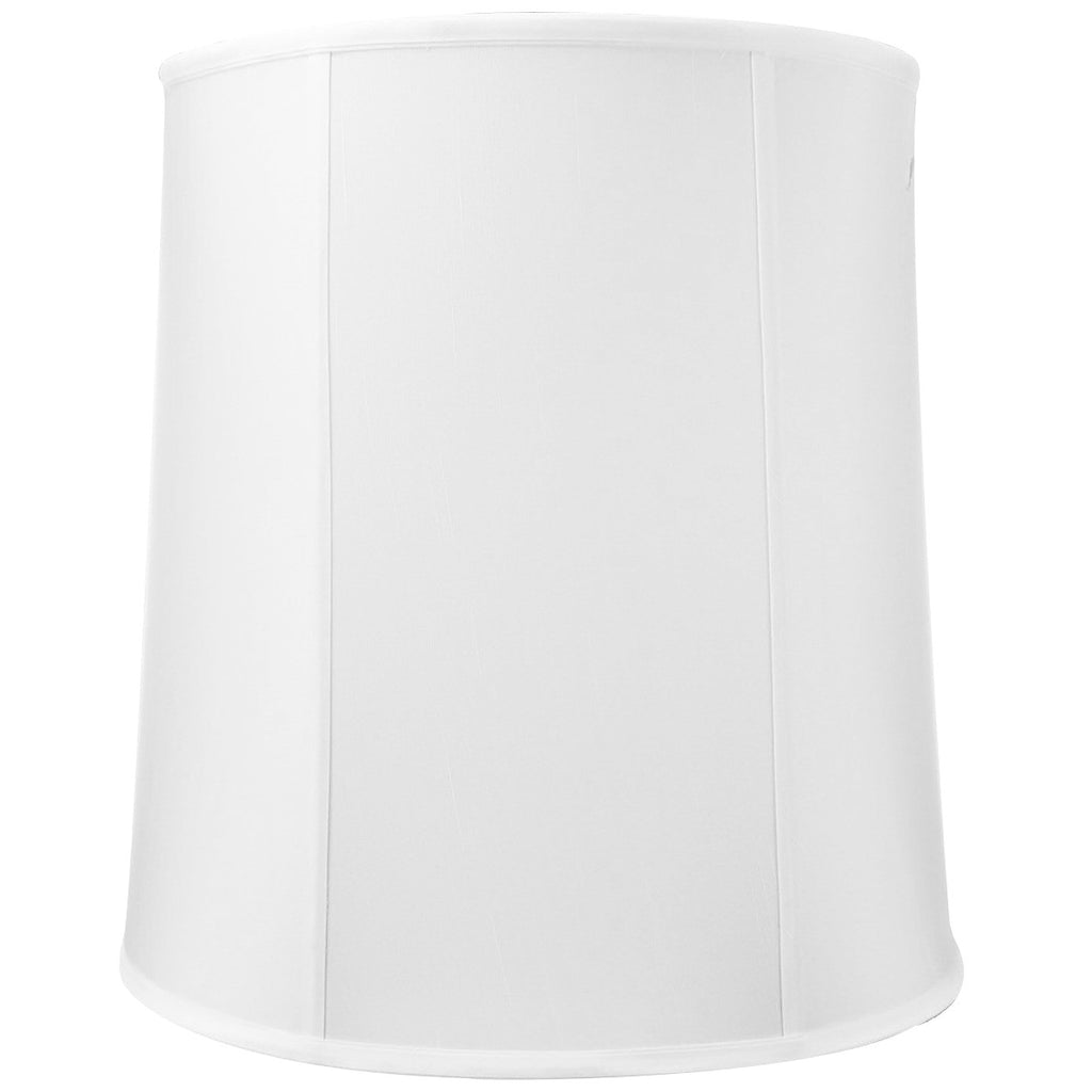 0-000236>14x16x17 White Drum Shantung Lampshade