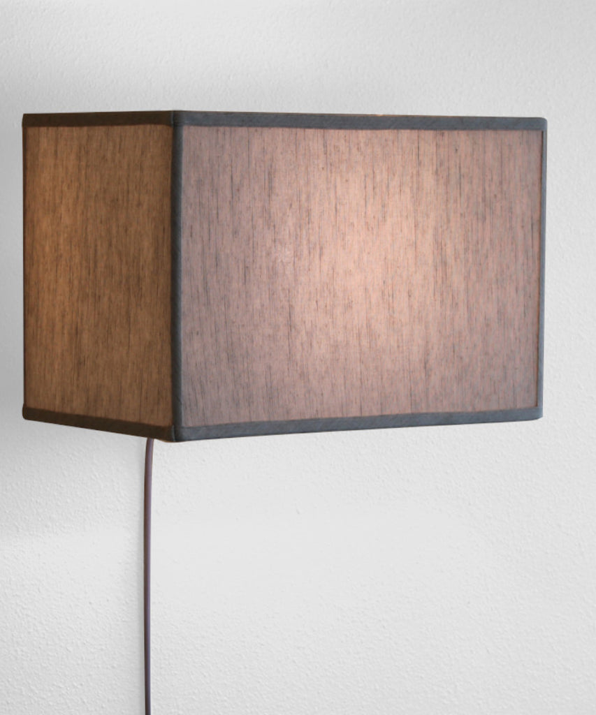 0-001030>Floating Shade Plug-In Wall Light Textured Oatmeal (10x16) (10x16) x 11