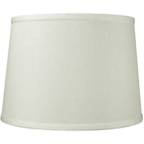 0-001400>12x14x10 Light Oatmeal Linen Drum Lampshade