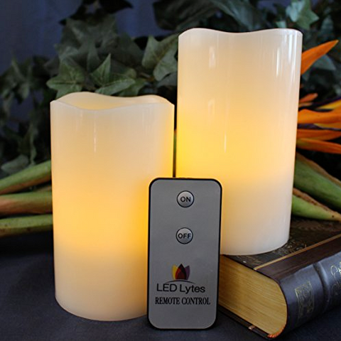 2 Sets of Beautiful LED Candles With Remote Control Made Of Real Wax - Operated By Batteries - LED Candles - 1