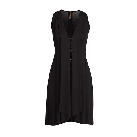 A-Line Dress with Button Detail
