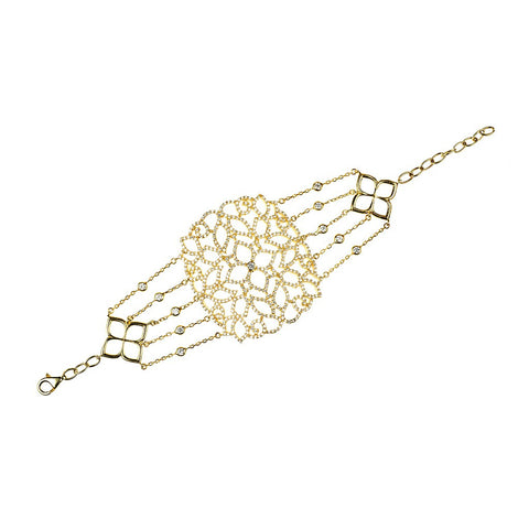 22ct Gold Vermeil Filigree Bracelet