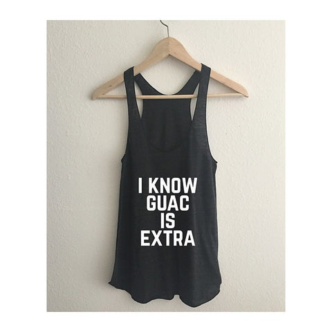 I Know Guac Is Extra Tri-Blend Racerback Tank