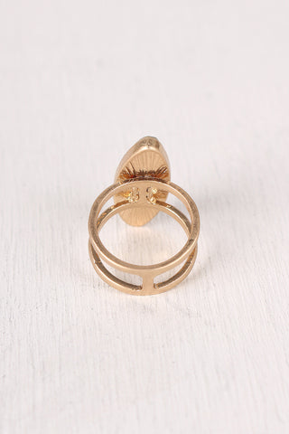 Oval Stone Statement Ring
