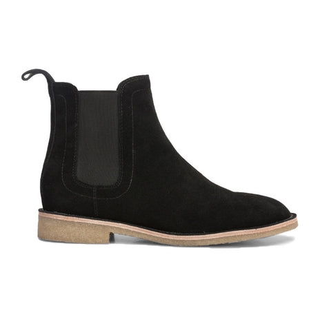 .Black Lavish Suede Chelsea Boots - STARTED Clothing - 1