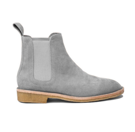 .Pearl Grey Lavish Suede Chelsea Boots - STARTED Clothing - 1