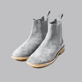 .Pearl Grey Lavish Suede Chelsea Boots - STARTED Clothing - 2